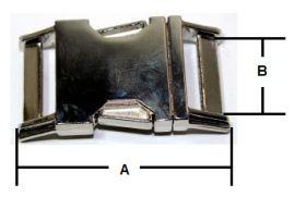 Klickverschluss 15mm aus Druckguss Hochglanz vernickelt 10-3000