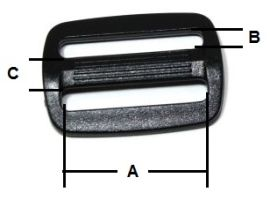Kunststoffschieber hohe Form 16 mm 18-3010