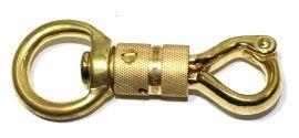 Karabinerhaken / Panikhaken Messing 25 mm 12-1009