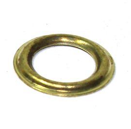 100 Stück Ring / Gegenscheibe Stahl vermessingt 6,9 mm 14-4155