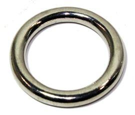 Ring  Messing VERNICKELT 12 mm  12-3030
