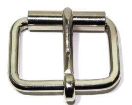 Rollschnalle 40mm Stahl vernickelt flach 14-6023