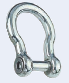 Rundschäkel geschmiedete Form mit Innensechskant  6 mm V4A 16-0011