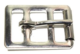 Sattelgurtschnalle 25 mm Stahl vernickelt  14-6016