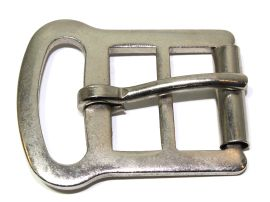 Sattelgurtschnalle 30mm Stahl vernickelt 14-6036