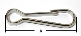 Simplexhaken Stahl vernickelt ähnl. DIN 5287 40mm 14-1029