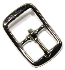 Stegschnalle 15 mm Messing vernickelt 12-5008