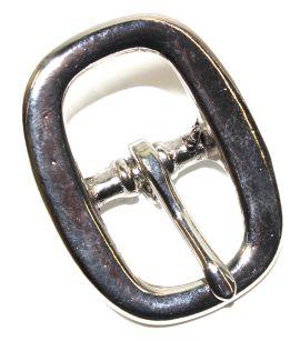 Stegschnalle 21 mm Messing vernickelt 12-5035