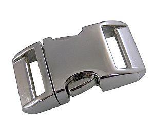 Alu Steckschnalle 20 mm hochglanz Alu-Max ®