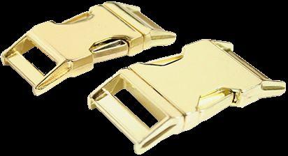 Metall Steckschnalle 30 mm gold Messing