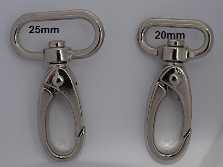 Karabinerhaken für Taschen u. Schlüsselbänder 25 mm