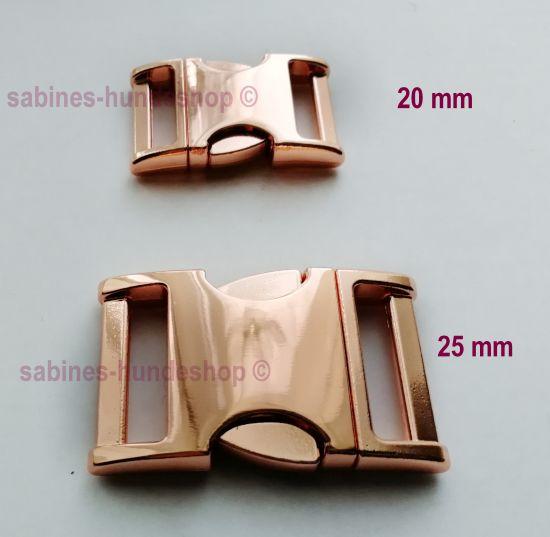 Steckschnalle 25 mm rosegold abgerundet NEU!!!