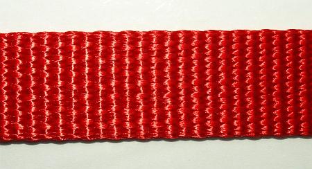 Gurtbandrest 25 mm Nylongurt 1,50 rot