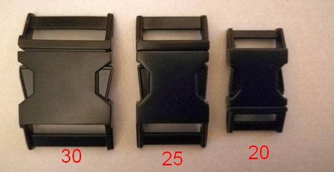 Metall Steckschließe 20 mm mattschwarz